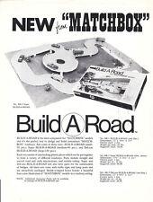 "Matchbox original promo leaflet ""Carry Case / Build A Road"" USA 1966"