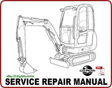 JCB 8027Z 8032Z Mini Excavator Service Repair Manual CD