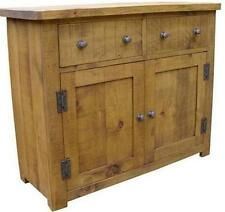 NEW SOLID WOOD DRESSER BASE SIDEBOARD CUPBOARD DRAWERS CHUNKY RUSTIC PLANK PINE