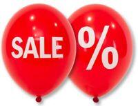 """50 x Ballons Rot 14"""" Ballon mit Aufschrift """"Sale"""" Luftballon"""