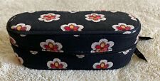 Vera Bradley Girls Black White Pink Yellow Flowers Fabric Glasses Case Zipper