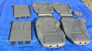 03-08 Saab 9-3 OEM Gray Driver & Passenger Sides 8 pieces Leather Seat Covers