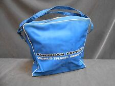 VINTAGE AMERICAN EXPRESS WORLD TRAVEL SERVICE ADVERTISING TOTE CARRY ON BAG