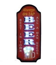 Insegna luminosa Pannello birra led metallo insegna pub bar 26X61