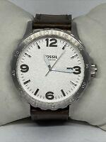Fossil JR1482 Men's Brown Leather Analog Dial Quartz Geniune Watch HK1017