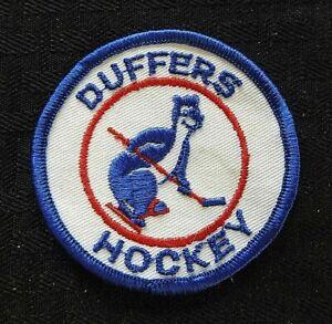 "c.1972 ""DUFFERS HOCKEY"" LEAGUE CLUB HAMMS BEAR ON SKATES VINTAGE PATCH"