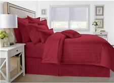 Wamsutta 500 Thread-Count Pima Cotton King Comforter 3 Piece Set Stripe Burgundy