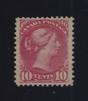Canada Sc #45b (Shade) (1896) 10c Rose Pink Small Queen VF OG