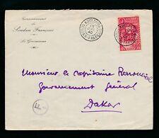 FRENCH SAHARA 1940 WW2 CENSOR KOULOUBA + F1 CIRCLED...GOVERNOR ENVELOPE..SENEGAL