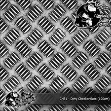 1m of Dirty Checkerplate (CHE1) 100cm hydrographics water transfer film