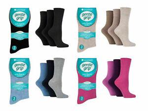 3/6/12 Pairs of Ladies Gentle Grip Diabetic Socks Soft Top Cotton Rich UK 4-8