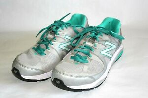 New Balance 1540 V2 Running Shoes, Sneakers, Gray & Teal, Women's 8 EE
