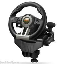 PXN-V3II USB Game Steering Wheel Plug and Play/Dual Motor Vibration for PC New