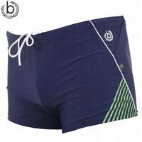 Bugatti Mens Swimming Trunks Navy Elasticated Drawstring Size Small Shorts
