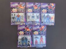 Spider-man 1996 Action Figure Lot of 5 Spider-man 2099 Spider-woman Clear Venon