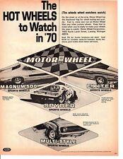 1970 MOTOR WHEEL ~ ORIGINAL PRINT AD