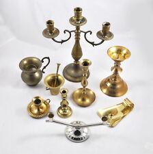 Messing Konvolut / Sammlung / Paket: Leuchter / Kandelaber / Kerzenständer