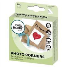 Kood 3L Home Hobby Photo Corners Clear Permanent (Stickers) x500 pcs -UK