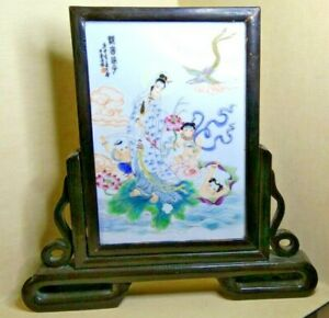 Vintage Chinese porcelain Plaque. 19th-20th century.