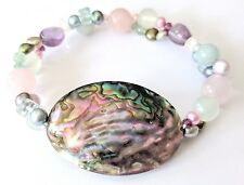Rainbow Genstone Stretch Bracelet