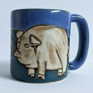 Mara Pig Pigs Farm Pottery Mug Mexico Large Coffee Tea Cup Heavy