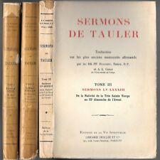SERMONS de TAULER Vie spirituelle Librairie DESCLÉE Circa 1927 3 tomes complets