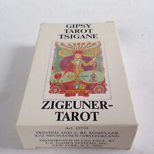 Vintage 1982 Gipsy Tarot Tsigane  Zigeuner Walter Wegmuller Gypsy Cards Deck