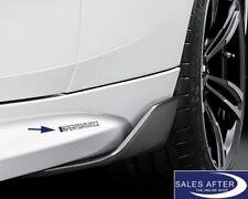 Original BMW M Performance Aufkleber Set 2 Stück Silber Sticker Schriftzug Logo