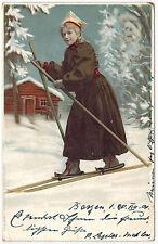 Norvegian Girl Skiing, Norway, 1899/1900