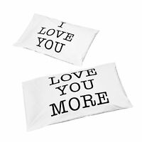 Valentines Day Gift Set I LOVE YOU Couples Pillowcases Newlyweds Bridal Bedding