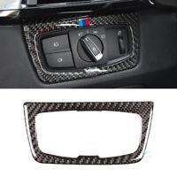 M-Sport Headlight Switch Button Frame Carbon Fiber Cover Trim for BMW F30 F32