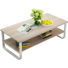 Modern Coffee Table Rectangular Cocktail Table Living Room Furniture w/ Storage