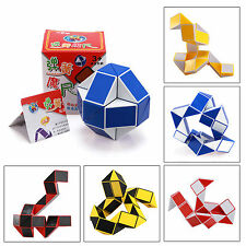 24-Sections Foldable Puzzle Snake Party Bag Toy 3D Magic Cube Twist Novelty Toy