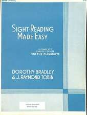 Sight Reading Made easy Book I, Bradley, Dorothy, Good Condition Book, ISBN