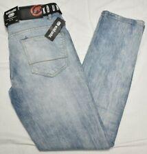 Ecko Unltd Jeans Men's 34 34x33 Skinny Belted Stretch Denim Light Vintage P779