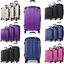 Hard Shell Cabin Suitcase 4 Wheel Luggage Trolley Case Lightweight Navy