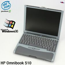 NETBOOK NOTEBOOK HP OMNIBOOK 510 INTEL PENTIUM 3 1133MHZ LAPTOP WINDOWS 98 256MB