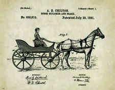 Horse Rodeo Patent Print Art Poster Western Antique Cowboy Saddle Spurs PAT246