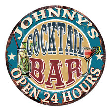 Cpco-0097 Johnny'S Cocktail Bar Father's Day Valentine's Day Christmas Gift Sign