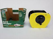 Vintage Johnson Card Shuffler 9000 Hand Crank Yellow Very Good! 1982
