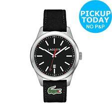 Lacoste 2010778 Men's Auckland Black Silicone Strap Watch.
