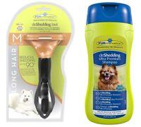 Genuine FURminator De-Shedding Tool: MEDIUM Dog LONG Hair / FURminator Shampoo