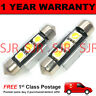 2X RED CANBUS NUMBER PLATE INTERIOR SMD LED BULBS 30 36 39 42 44MM FESTOON OB