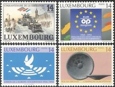 Luxembourg 1994 Liberation/Army/Tank/Clock Tower/Bronze/Art/Dove 4v (n25753)