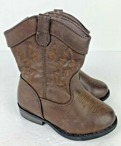Cowboy Boots Size 6 Toddler Girls Boys Kids Cat & Jack Western Brown