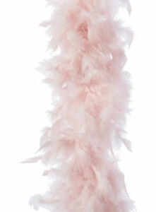 Pale Blush Pink Feather Boa Christmas Garland Xmas Tree Decorations 184cm
