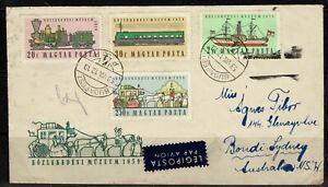 Hungary 1959 Airmail Cover To Australia - Budapest cds- Addressed - Used