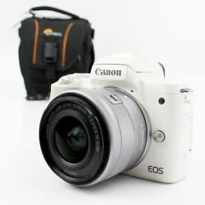 Canon EOS M50 Mirrorless DSLR Camera with 15-45 IS STM lens - White