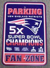 New England Patriots 2016 Super Bowl 51 Champions Plastic Parking Sign