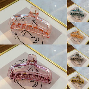 Transparent Jelly Color Hair Claw Hairgrip Hairpin Shower Makeup Ponytail Clip